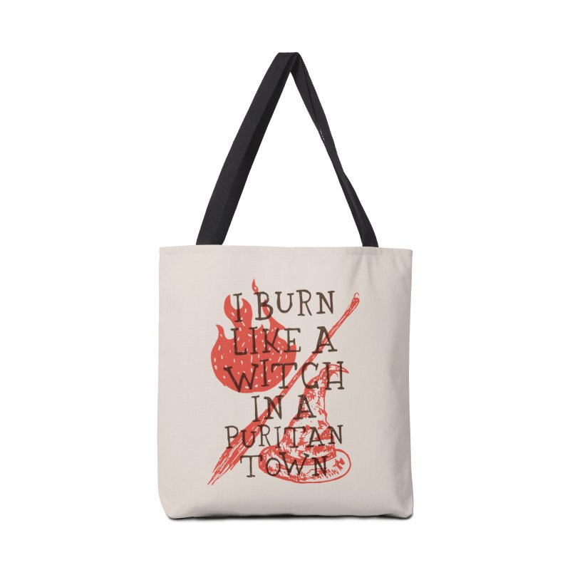 I Burn Like A Witch In A Puritan Town Accessories Bag by Rupertbeard