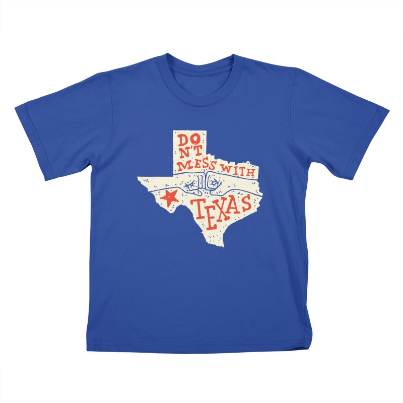 Don't Mess With Texas Kids T-Shirt by Rupertbeard