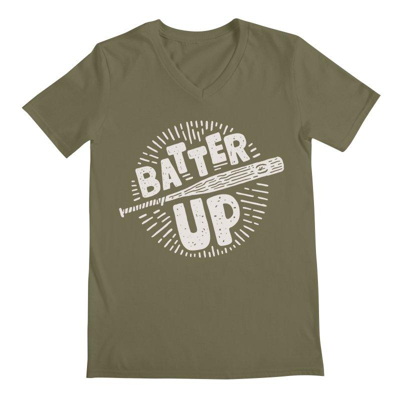 Batter Up Men's V-Neck by Rupertbeard