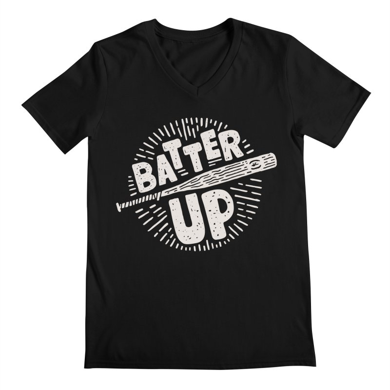 Batter Up Men's V-Neck by Rupertbeard