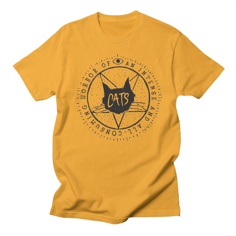 Horror Of Cats Men's T-shirt by Rupertbeard