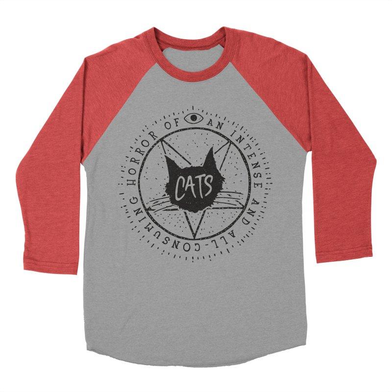 Horror Of Cats Men's Baseball Triblend T-Shirt by Rupertbeard