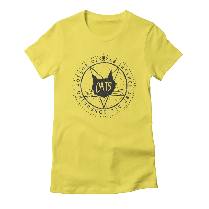 Horror Of Cats Women's Fitted T-Shirt by Rupertbeard