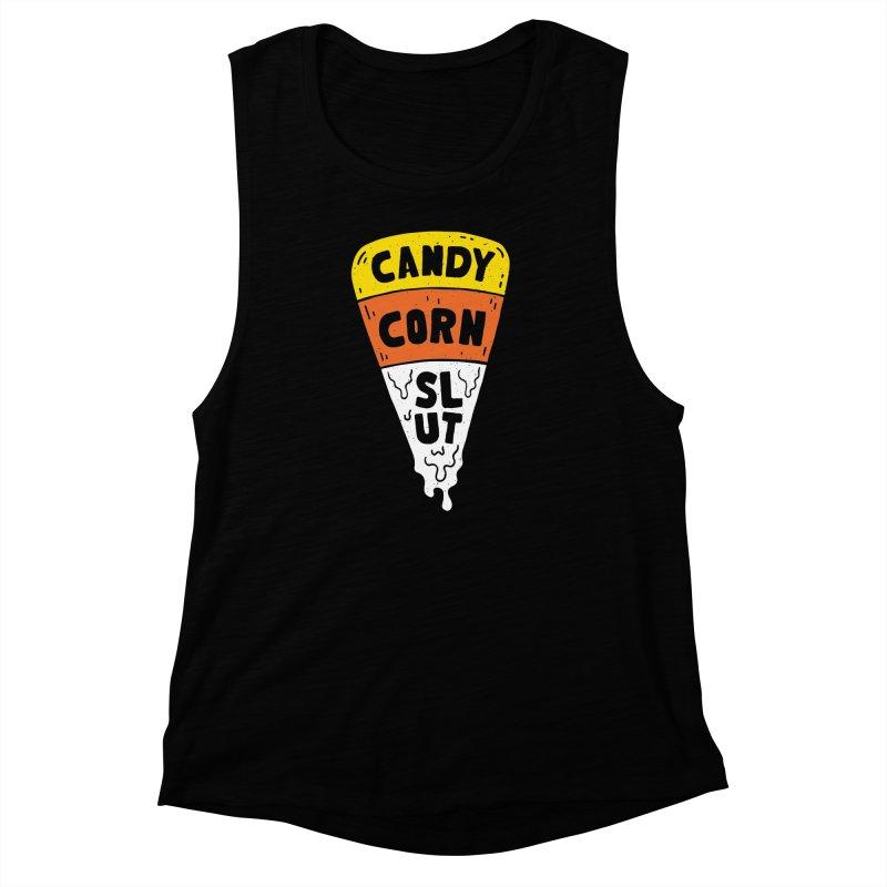 Candy Corn Slut Women's Muscle Tank by Rupertbeard