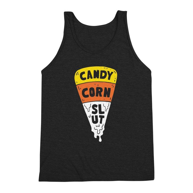 Candy Corn Slut Men's Triblend Tank by Rupertbeard