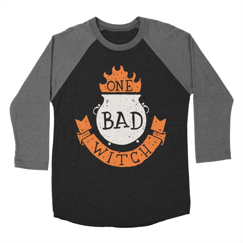 One Bad Witch Men's Baseball Triblend T-Shirt by Rupertbeard