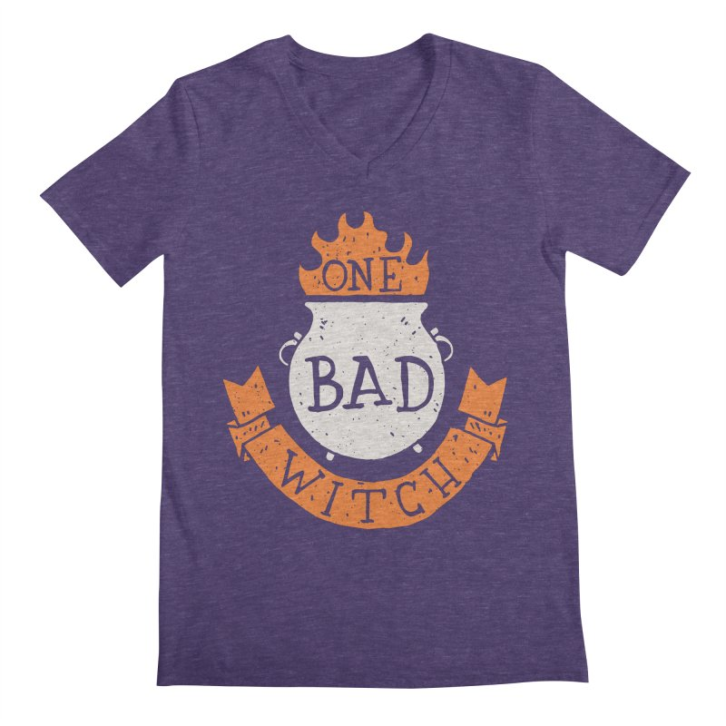 One Bad Witch Men's V-Neck by Rupertbeard