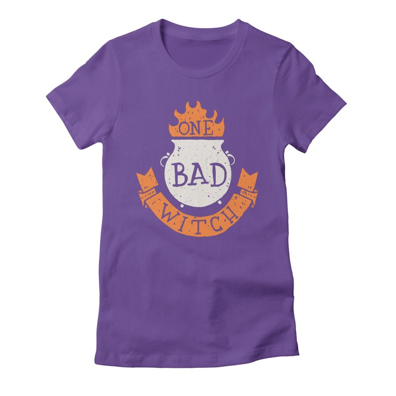 One Bad Witch Women's Fitted T-Shirt by Rupertbeard