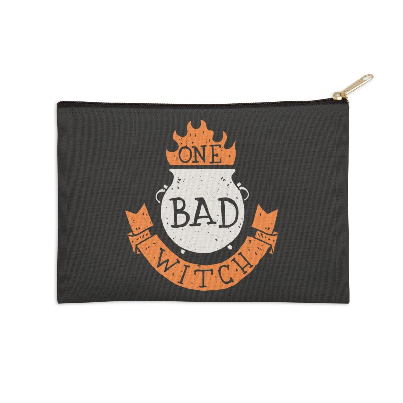 One Bad Witch Accessories Zip Pouch by Rupertbeard