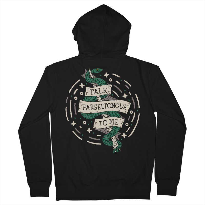 Talk Parseltongue To Me Men's Zip-Up Hoody by Rupertbeard