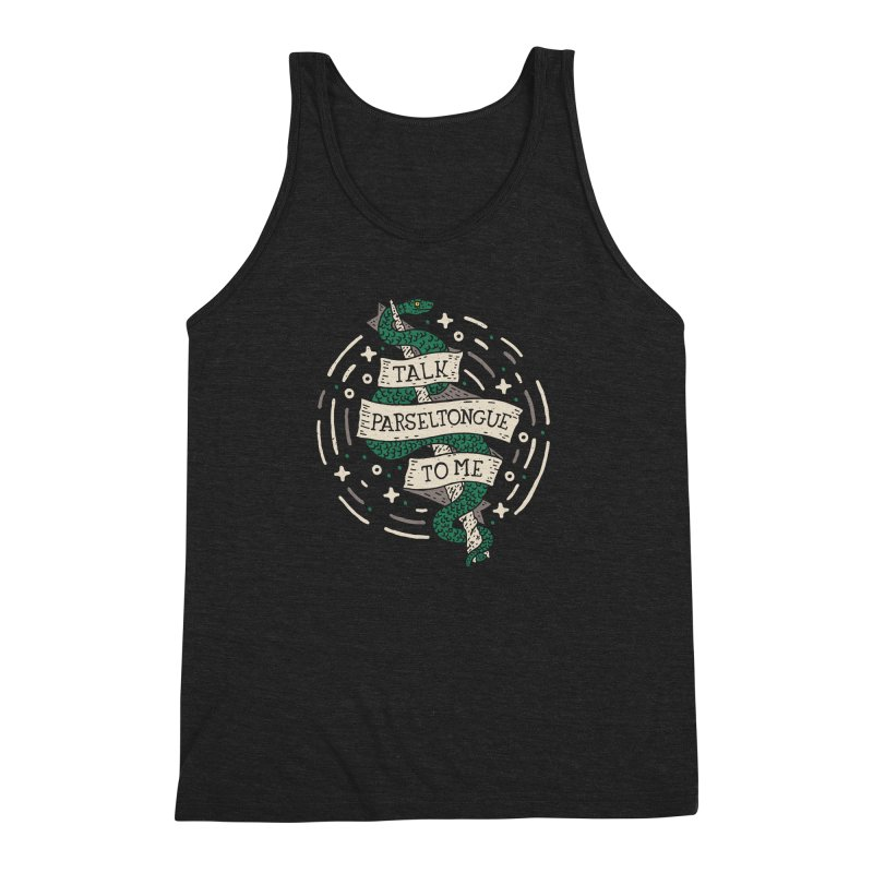 Talk Parseltongue To Me Men's Triblend Tank by Rupertbeard
