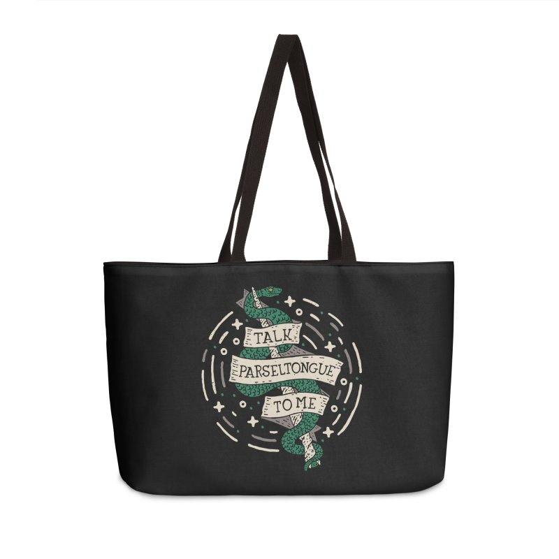 Talk Parseltongue To Me Accessories Weekender Bag Bag by Rupertbeard