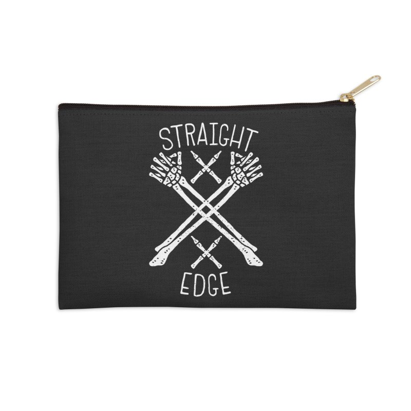 Straight Edge Accessories Zip Pouch by Rupertbeard