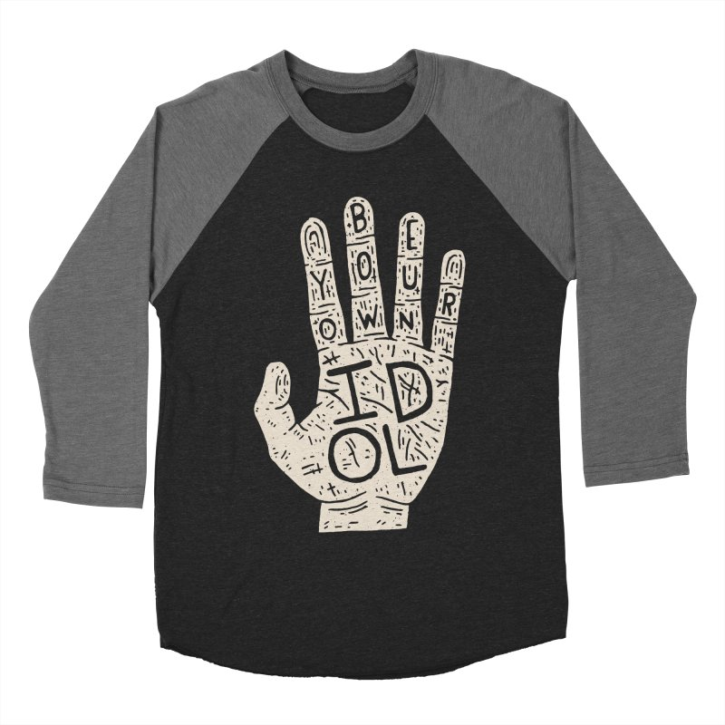 Be Your Own Idol Men's Baseball Triblend T-Shirt by Rupertbeard