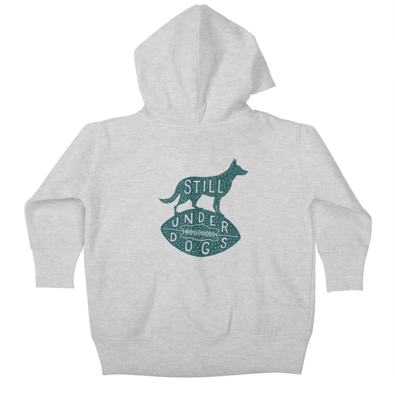 Still Underdogs Kids Baby Zip-Up Hoody by Rupertbeard