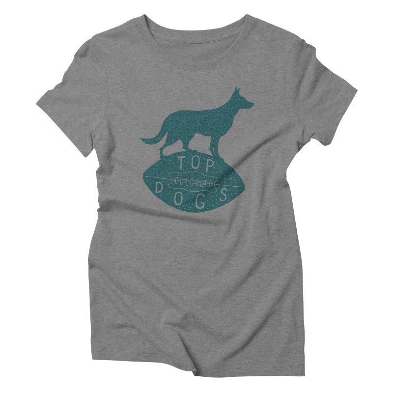 Top Dogs Women's Triblend T-Shirt by Rupertbeard