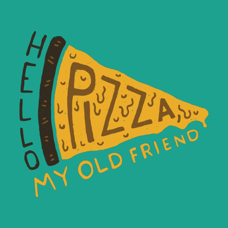 Hello Pizza, My Old Friend Men's Pullover Hoody by Rupertbeard
