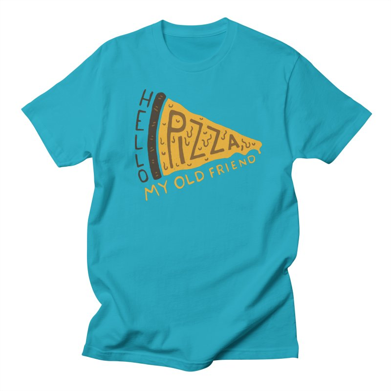Hello Pizza, My Old Friend Men's T-Shirt by Rupertbeard