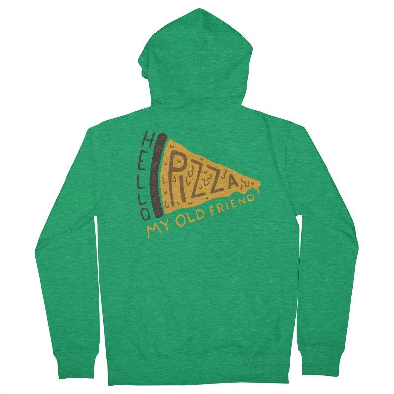 Hello Pizza, My Old Friend Men's Zip-Up Hoody by Rupertbeard