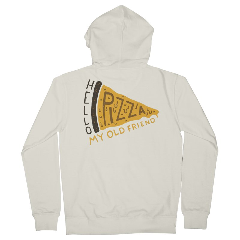 Hello Pizza, My Old Friend Men's Zip-Up Hoody by Rupertbeard