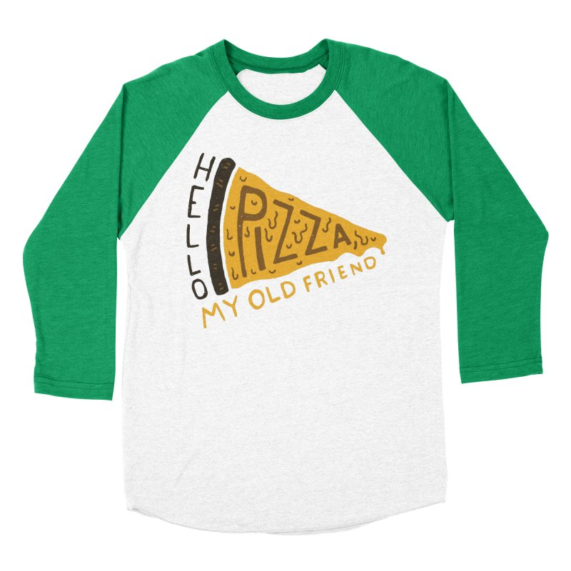 Hello Pizza, My Old Friend Women's Baseball Triblend T-Shirt by Rupertbeard
