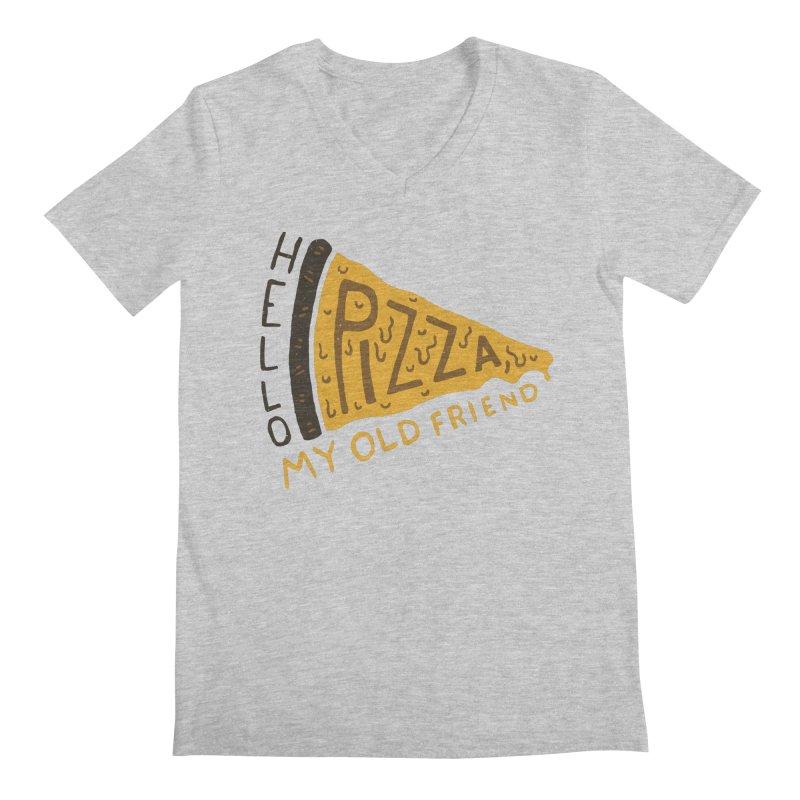 Hello Pizza, My Old Friend Men's V-Neck by Rupertbeard