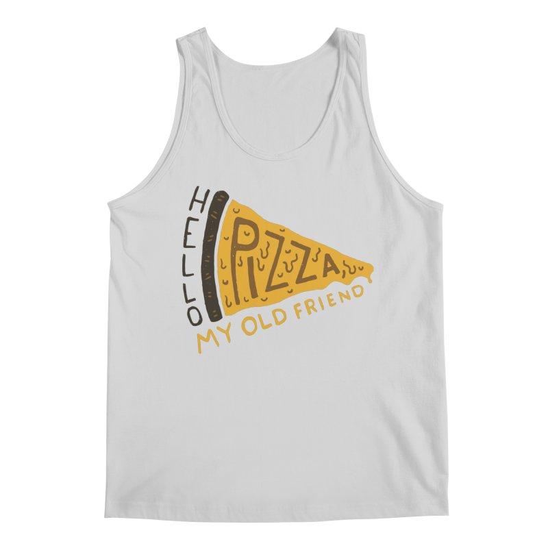 Hello Pizza, My Old Friend Men's Tank by Rupertbeard
