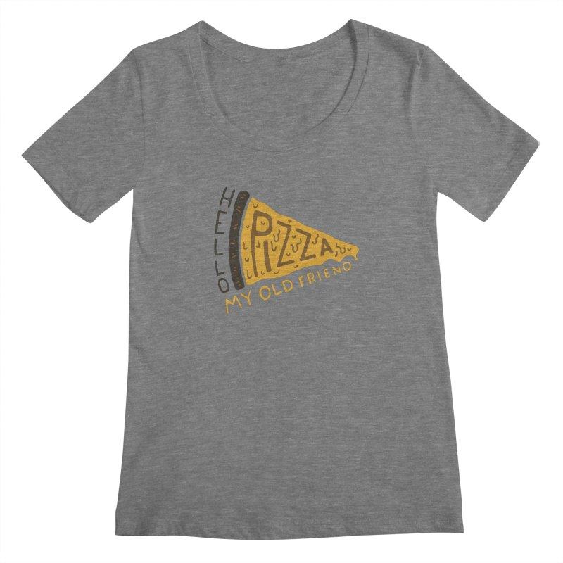 Hello Pizza, My Old Friend Women's Scoopneck by Rupertbeard