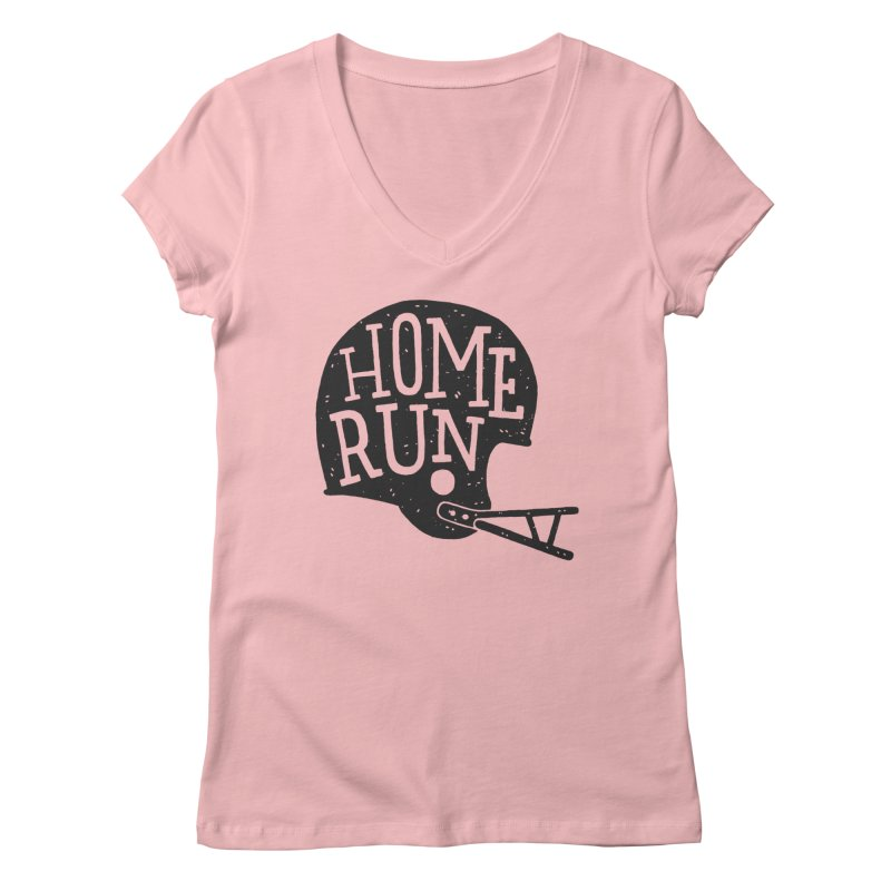 Home Run Women's V-Neck by Rupertbeard