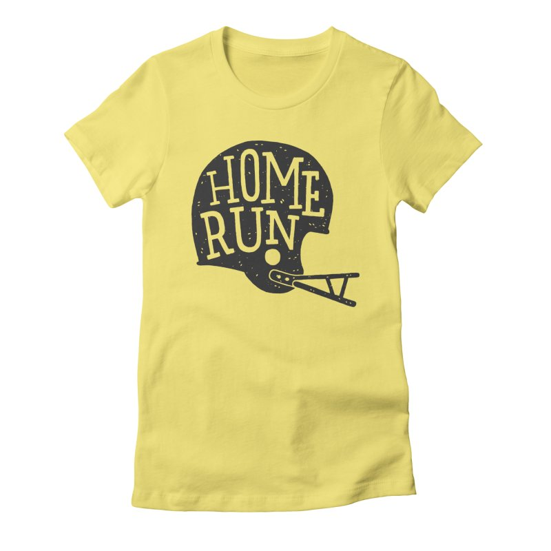 Home Run Women's Fitted T-Shirt by Rupertbeard