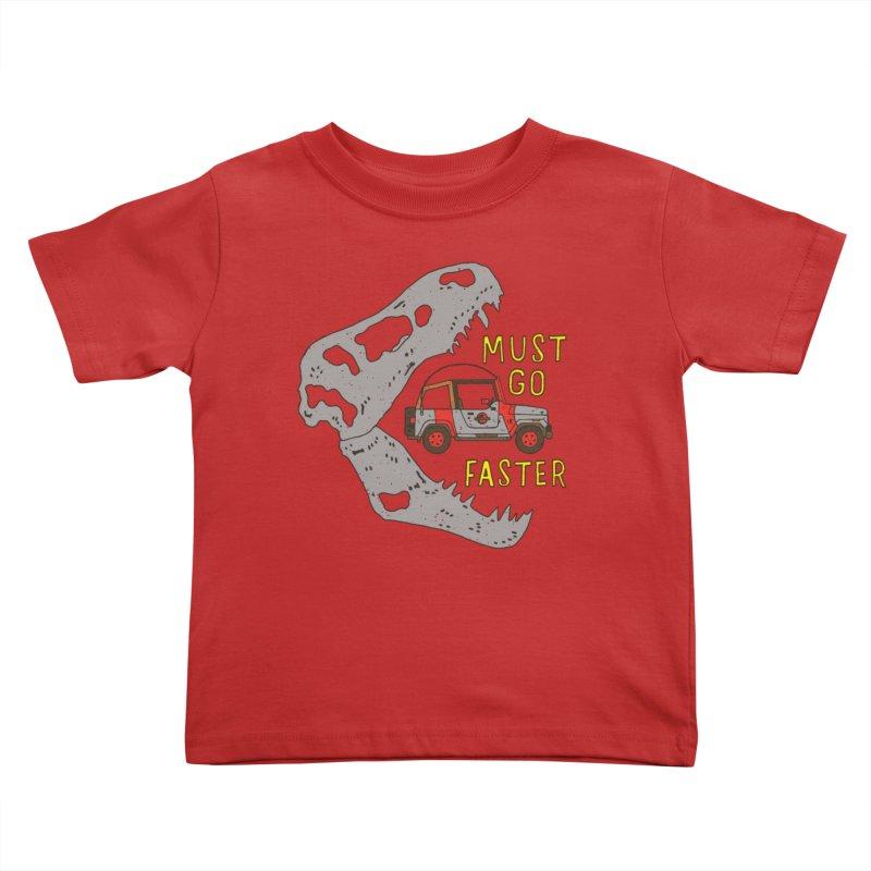 Must Go Faster Kids Toddler T-Shirt by Rupertbeard