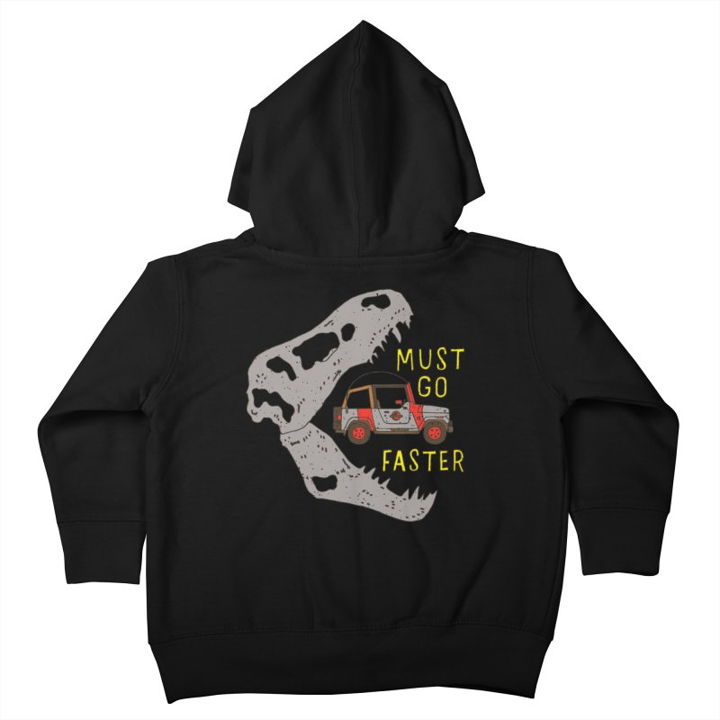 Must Go Faster Kids Toddler Zip-Up Hoody by Rupertbeard