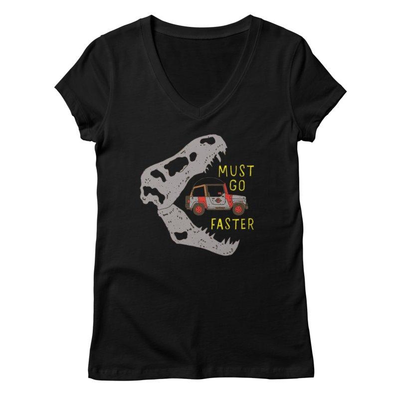 Must Go Faster Women's V-Neck by Rupertbeard