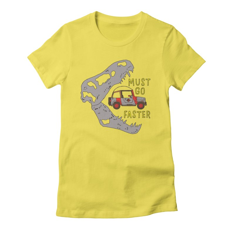 Must Go Faster Women's Fitted T-Shirt by Rupertbeard