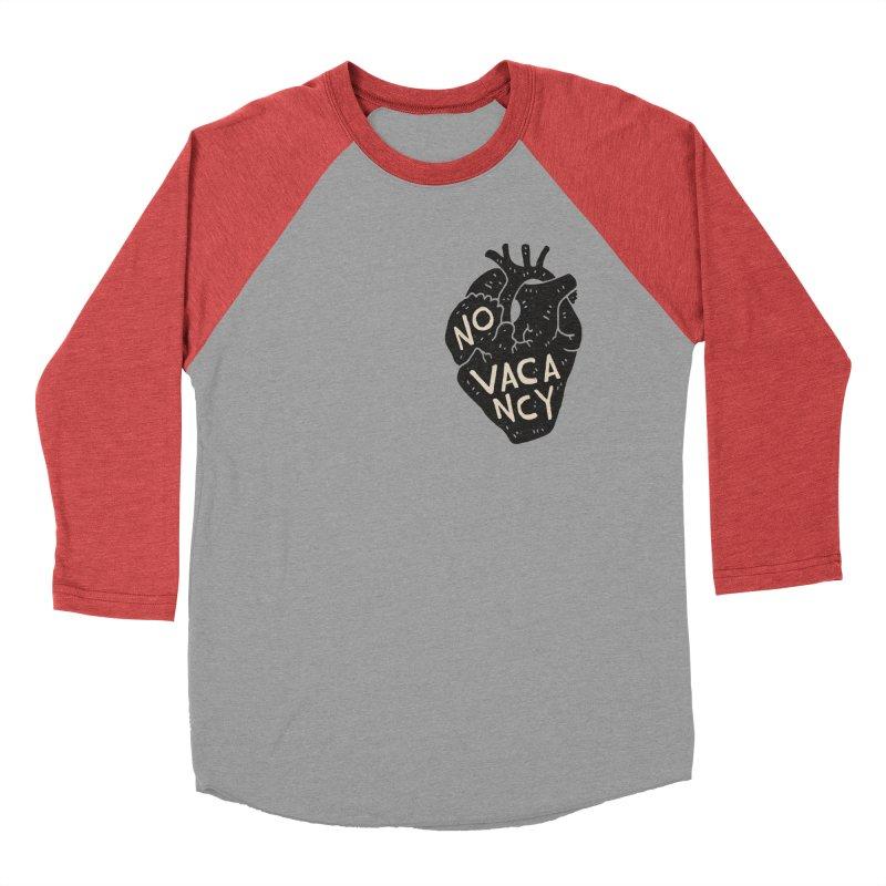 No Vacancy Women's Baseball Triblend T-Shirt by Rupertbeard