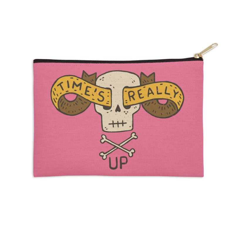 Time's Really Up Accessories Zip Pouch by Rupertbeard