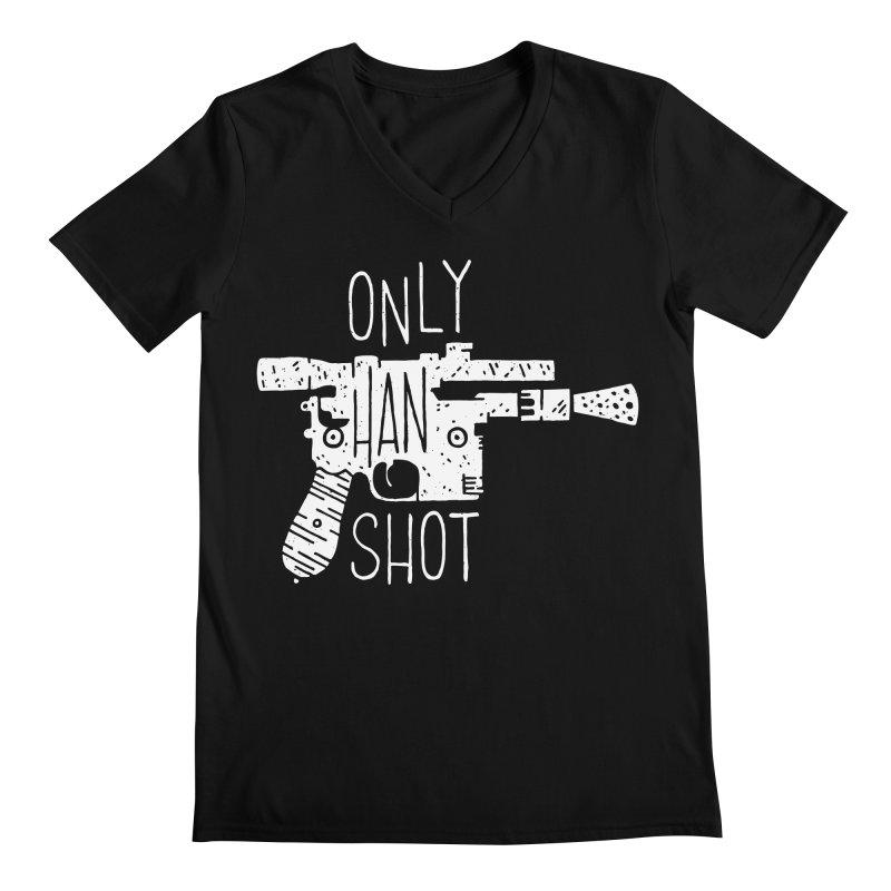 Only Han Shot Men's V-Neck by Rupertbeard