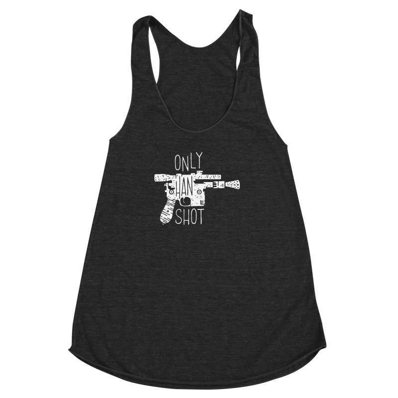 Only Han Shot Women's Racerback Triblend Tank by Rupertbeard