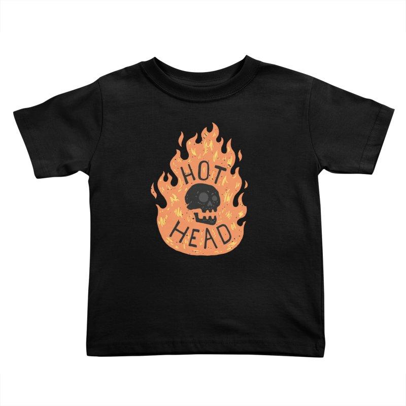 Hot Head Kids Toddler T-Shirt by Rupertbeard