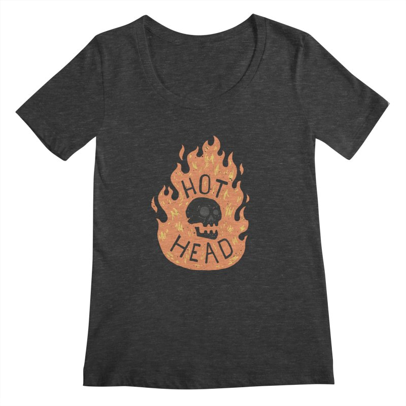 Hot Head Women's Scoopneck by Rupertbeard