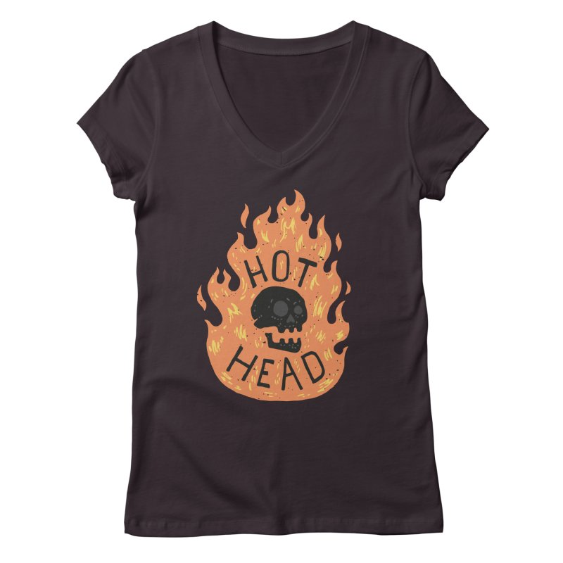 Hot Head Women's V-Neck by Rupertbeard