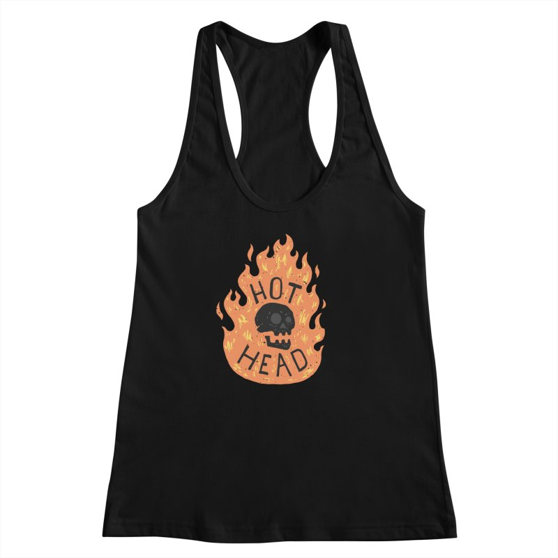 Hot Head Women's Racerback Tank by Rupertbeard