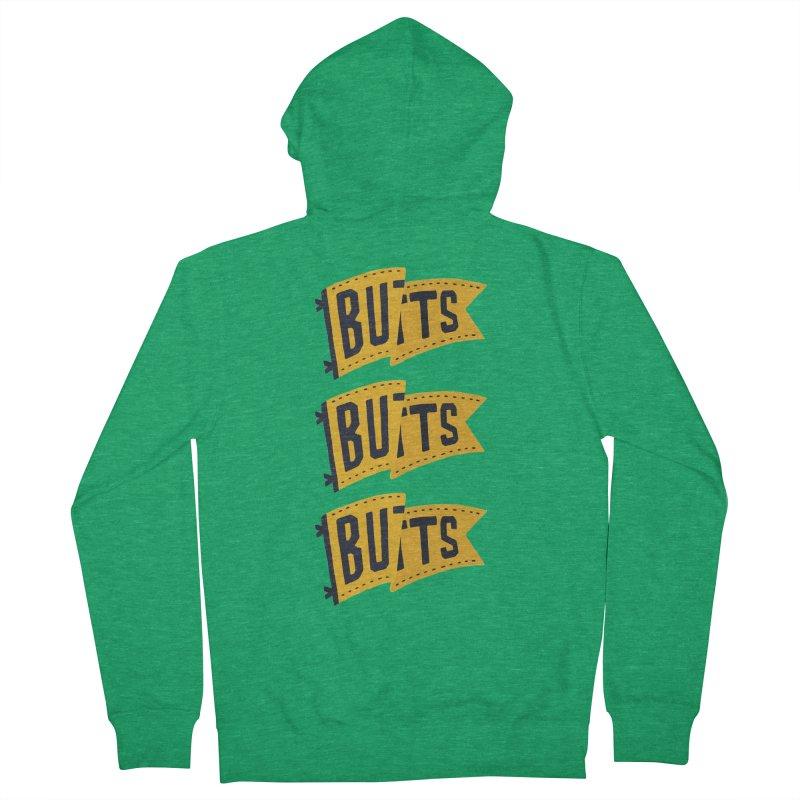 Butts, Butts, Butts Men's Zip-Up Hoody by Rupertbeard