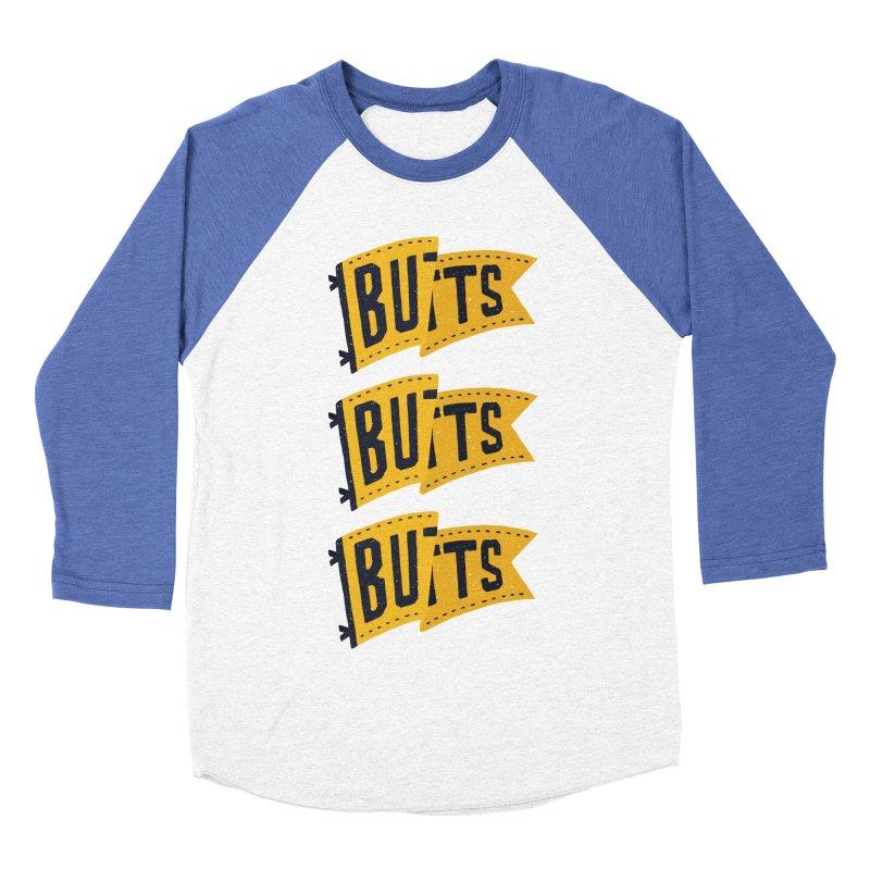 Butts, Butts, Butts Women's Baseball Triblend T-Shirt by Rupertbeard