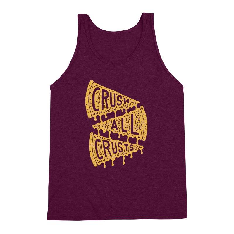 Crush All Crusts Men's Triblend Tank by Rupertbeard