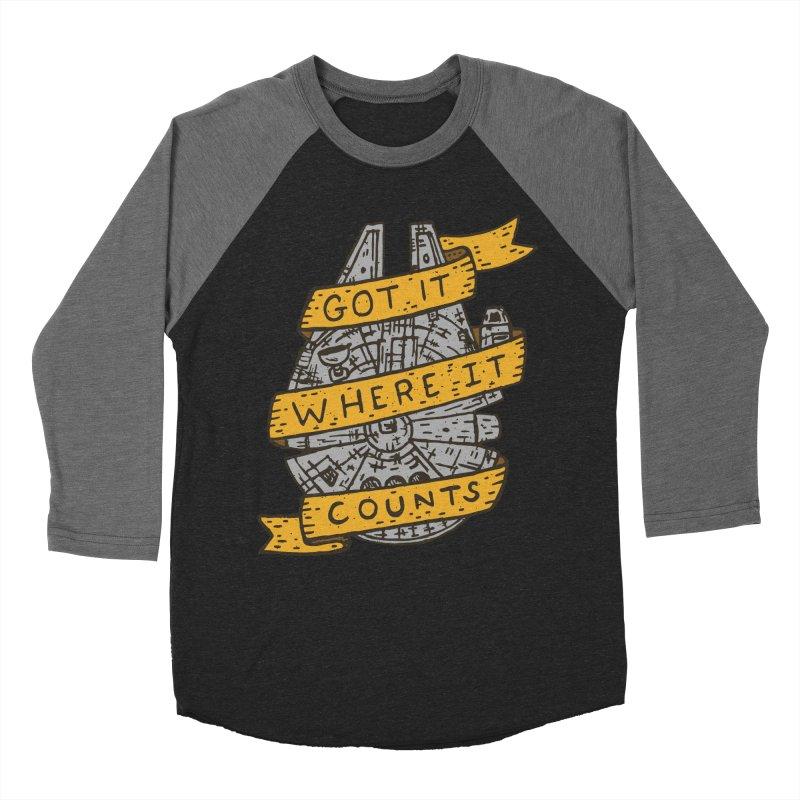 Got It Where It Counts Women's Baseball Triblend T-Shirt by Rupertbeard