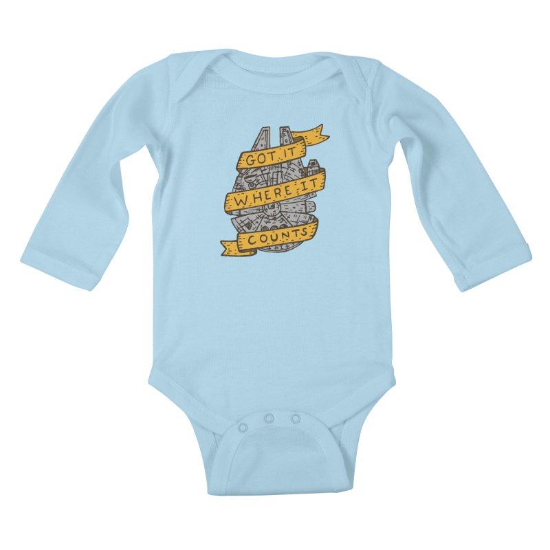 Got It Where It Counts Kids Baby Longsleeve Bodysuit by Rupertbeard