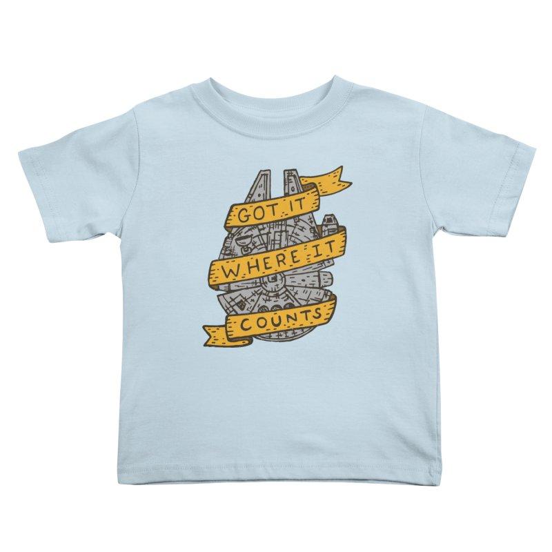 Got It Where It Counts Kids Toddler T-Shirt by Rupertbeard