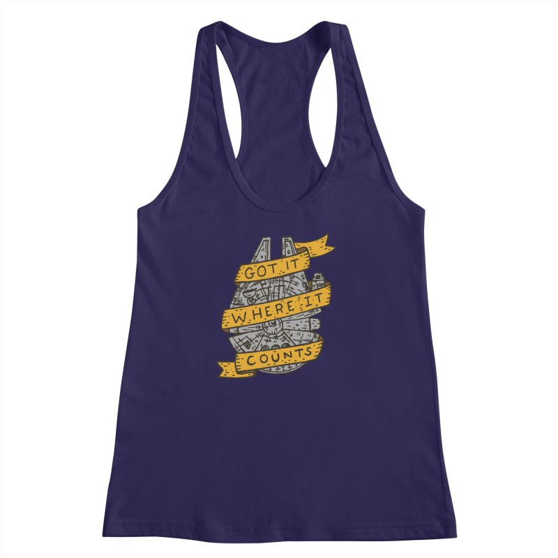 Got It Where It Counts Women's Racerback Tank by Rupertbeard