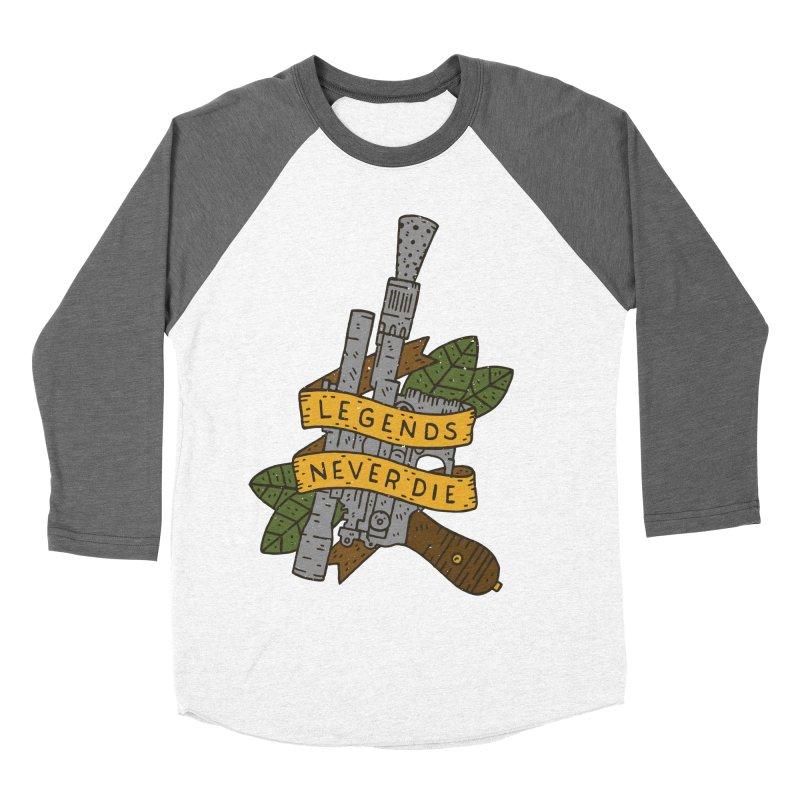 Legends Never Die Women's Baseball Triblend T-Shirt by Rupertbeard